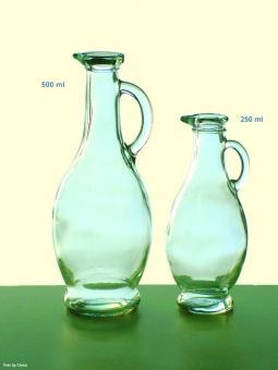 Ölkaraffe 0,5 l klar Mündung 19