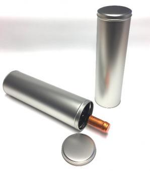 Weindose Metall matt - wie sandgestrahlt
